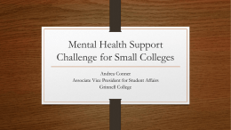 Mental Health Support Challenge for Small Colleges (PPT)