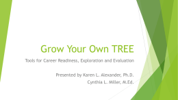 Grow Your Own TREE: Tools for Career Readiness, Exploration, and Evaluation