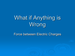 What if Anything is Wrong Task on Electric Charge