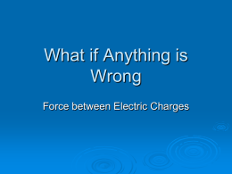 What if Anything is Wrong Task on Elecctric Charge