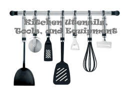 Kitchen Utensils and Tools PowerPoint