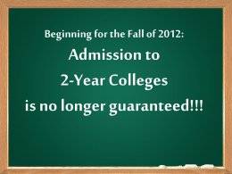 Two-Year Colleges 2