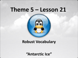 Lesson 21: Antarctic Ice PowerPoint