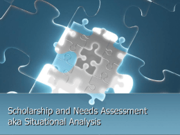 Needs Assessment Ppt used 2011