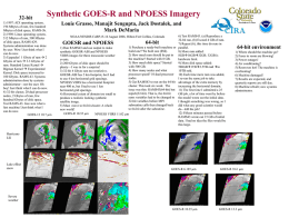Synthetic GOES-R and NPOESS imagery