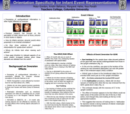 ICIS 2004 Orientation Specificity in Infant Event Reps