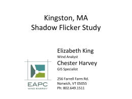 Methodology and Results from Shadow Flicker Modeling in Kingston, MA